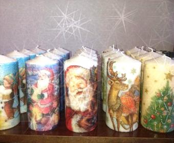 Източник: Дарина Цветанова Свещи с чудни шарени декорации. С такъв